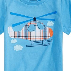 First Impressions Shirts & Tops - NWT First Impressions Blue Helicopter Shirt 24mo